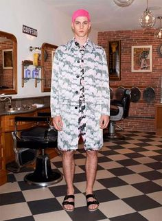 The Givenchy Spring 2014 Pre-Collection Features Florals and Camo #tropical #fashion trendhunter.com