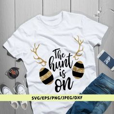 The Hunt Is On Easter Svg Cut File Mens Tops, Easter, Women, Fashion, Moda, Women's, Fashion Styles, Easter Activities, Fasion
