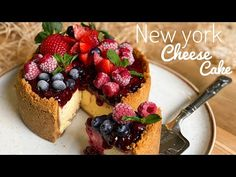 CÓMO HACER EL MEJOR NEW YORK CHEESE CAKE- cremoso - YouTube Newyork Cheesecake, Cheesecake Cake, Chess Cake, Cheesecake Decoration, No Bake Pies, Amazing Cakes, Mexican Food Recipes, Cupcake Cakes, Cake Recipes