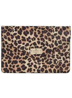Kardashian leopard clutch - Purses & Wallets - Accessories - Dorothy Perkins United States