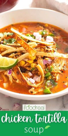 Creamy Chicken Tortilla Soup, Mexican Tortilla Soup, On The Border Chicken Tortilla Soup Recipe, Mexican Taco Soup Recipe, Easy Tortilla Soup, Best Tortilla Soup Recipe, Chicken Enchilada Soup, Cooking Recipes, Healthy Recipes