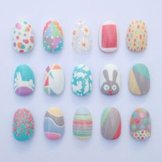Easy peasy Easter nail art designs using @barrymcosmetics NEW Speedy Nail Paint and NEW Gelly Hi-Shine #BarryM Nail Paints. Nails by Sophie Harris-Greenslade #theillustratednail HAPPY EASTER!