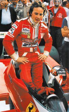 Gilles a?Gilles brought much prestige to the name of Ferrari. I loved him. Ferrari Racing, Ferrari F1, F1 Racing, Sport Cars, Race Cars, Motor Sport, Abu Dhabi, Monaco, Watch F1