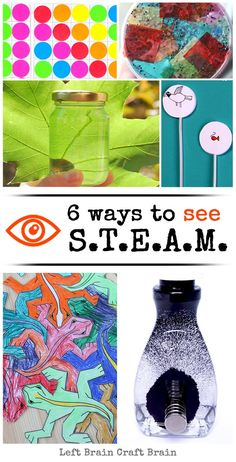 Sensing STEAM: Awesome Science, Technology, Engineering, Art and Math Activities for Kids - Left Brain Craft Brain Math Activities For Kids, Steam Activities, Science For Kids, Weird Science, Science Ideas, Science Art, Science Lessons, Teaching Science, Engineering Science