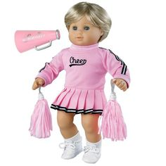 Cheerleading Sports Megaphone 18 in Doll Clothes Accessory Fits American Girl