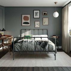 Room Ideas Bedroom, Bedroom Decor, Teen Guy Bedroom, Tiny Master Bedroom, Master Bedroom Makeover, Bedroom Sets, Metal Platform Bed, Queen Platform Bed, Platform Beds