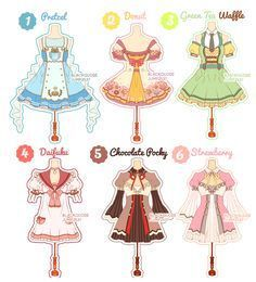 Dessert Theme Outfit Adoptable # 6 by Black-Quose Fashion Design Drawings, Fashion Sketches, Drawing Fashion, Nanny Outfit, Character Inspiration, Character Design, Kleidung Design, Anime Dress, Themed Outfits