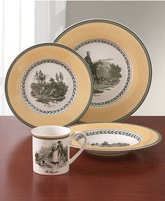 "(This is actually my French china which I just love!) Villeroy & Boch ""Audun"" Dinnerware - Casual Dinnerware"