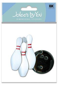 Bowling Ball Pins League Bowl Game Shirt Shoes Strike Stickers Scrapbook Pick for sale online Scrapbook Stickers, Scrapbook Supplies, Scrapbooking Ideas, Coupon, Ek Success, Sport Icon, Bowling Ball, T Shirt Diy, Info