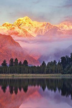 Lake Matheson, New Zealand  (by Darren J. Bennett)