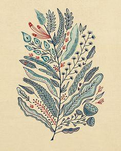 Turning over a new leaf art print zentangle coolness рисунки, обои, иллюстр Art And Illustration, Design Illustrations, Illustrations Posters, Tangle Art, Zentangle Patterns, Zentangles, Design Graphique, Leaf Art, Wassily Kandinsky