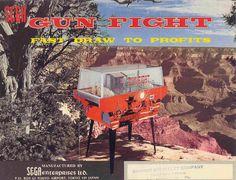 Arcade Game Machines, Arcade Games, Gun Art, Sale Flyer, Game Item, Holiday Postcards, Vintage Games, Christmas Items, Old West