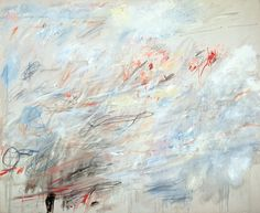 Cy Twombly (b. 1928), Untitled, 1964/84. Oil stick, wax crayon and graphite on canvas, 80 1/2 × 98 1/4 . in. (204.5 × 249.6 cm). Promised gift of Emily Fisher Landau P.2010.351. Photograph by Jerry L. Thompson