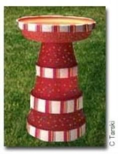 For the BIRDS :: terra cotta pot Birdbath image by sangaree_KS - Photobucket