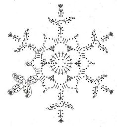 10 crochet pattern pins waiting to be discovered – sw … Crochet Snowflake Pattern, Crochet Snowflakes, Crochet Stitches Patterns, Christmas Snowflakes, Crochet Motif, Crochet Doilies, Crochet Flowers, Crochet Angels, Crochet Stars