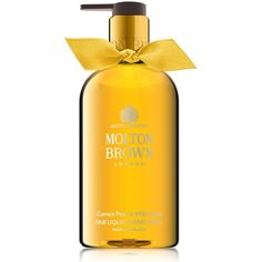 Molton Brown Comice Pear and Wild Honey Fine Liquid Hand Wash (495 MXN) ❤ liked on Polyvore featuring beauty products, bath & body products, body cleansers and molton brown