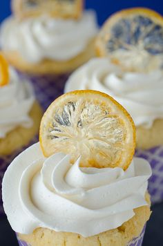 Lemon Cupcakes with Candied Lemon Chips | seeded at the table