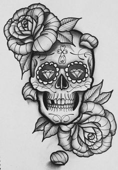 53 Ideas Tattoo Sleeve Filler Men Sugar Skull For can find Sugar skull art and more on our Ideas Tattoo Sleeve Filler Men Sugar Skull For 2019 Line Art Tattoos, New Tattoos, Body Art Tattoos, Tattoos For Guys, Tatoos, Tattoo Dotwork, Arm Tattoo, Skull Tattoo Design, Flower Tattoo Designs