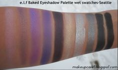 e.l.f Baked Eyeshadow Palette-Seattle-Wet Swatches.