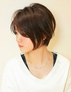 ボリュームアップ小顔ショートカット(YR-460) | ヘアカタログ・髪型・ヘアスタイル|AFLOAT(アフロート)表参道・銀座・名古屋の美容室・美容院