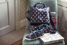 Button Spot Grape Double Decker Backpack | Cath Kidston AW15 |