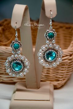 "Серьги с бирюзой ""Light Turquoise"" | biser.info - всё о бисере и бисерном творчестве"