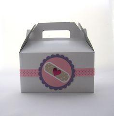 Set of 5 Gable Boxes for Doc McStuffins Party Favors. $13.25, via Etsy.