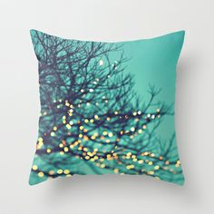 twinkle lights Throw Pillow by Sylvia Cook Photography - $20.00
