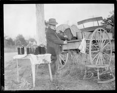 Man Operates Still out of the Back of a Carriage – c. 1917-1934