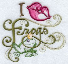 Perfect for a frog loving friend for Valentine's Day! From EmbroideryEverywhere on Etsy!