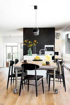 Stunning Monochrome Kitchen Style Ideas You Must Try - Grey Kitchen Cabinets, Kitchen Tiles, Kitchen Design, Two Tone Kitchen, Grey Kitchens, Can Design, Kitchen Styling, Monochrome, Interior Design