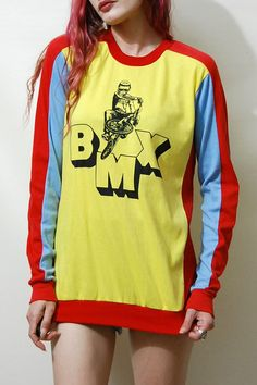 70s 80s Vintage BMX Jersey Top Bike Riding Bicycle by cruxandcrow