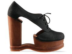 Jeffrey Campbell Benched in Black Grainy Leather at Solestruck.com - I WANT!