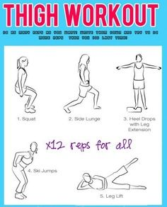 a #thighgap workout to try ;)