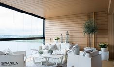 A soft atmosphere in this terrace House Siding, Cottage Homes, Terrace, Beach House, Flooring, Table Decorations, Live, Wood, Interior
