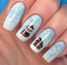 Challenge, Glam Nails, Winter Nails, Christmas Nails, Instagram, Santa, Beauty, Christmas Manicure, Cosmetology