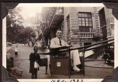 1937 - my father on a sedan chair