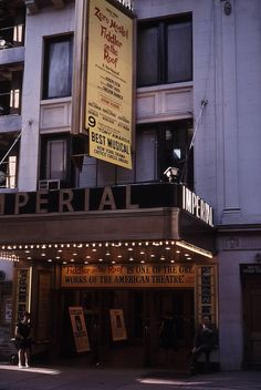Broadway marquee Fiddler on the Roof Imperial Theatre Broadway Sign, Broadway Theatre, Musical Theatre, Imperial Theatre, Oscar Hammerstein Ii, Fiddler On The Roof, Theatre Posters, Billy Elliot, Theatres