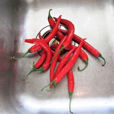 Thin, Red Chiles for Hot Pepper Rings in Olive Oil with Garlic Hot Pepper Oil Recipe, Garlic Olive Oil, Stuffed Hot Peppers, Food And Drink, Vegetables, Cooking, Rings, Pickling, Red