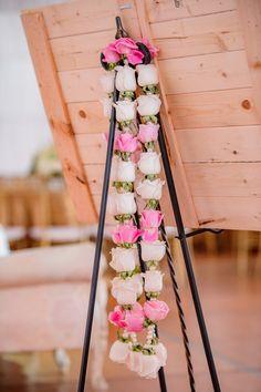 Peach & Pink Sikh Wedding at Viaggio Winery {California} - The Big Fat Indian Wedding wedding garland Peach & Pink Sikh Wedding at Viaggio Winery {California} Indian Wedding Flowers, Flower Garland Wedding, Rose Garland, Floral Garland, Flower Garlands, Wedding Garland Indian, Indian Bridal, Wedding Garlands, Indian Weddings