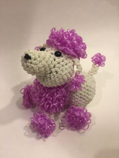 Poodle Rubber Band Figure by BBLNCreations on EtsyLoomigurumi Amigurumi Rainbow Loom