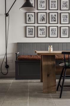 Luxury Bespoke Kitchens & Design from Plain English Cupboardmakers Kitchen Banquette, Kitchen Seating, Kitchen Benches, Dining Nook, Kitchen Nook, Kitchen Ideas, Kitchen Tile, Kitchen Reno, Kitchen Remodeling
