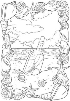 Welcome to Dover Publications - BLISS Seashore Coloring Book: Your Passport to Calm