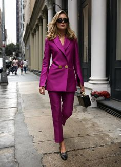top fall fashion trends power suit suiting work wear 80s pant suit petar petrov net-a-porter style blogger