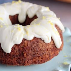 Zucchini Cake with Lemon Cream Cheese Icing: More elegant and tastier than zucchini bread.