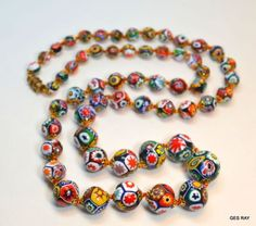 Sophia is given an antique Venetian Murano Millefiori Art Glass Bead Necklace by Lucrezia Borgia