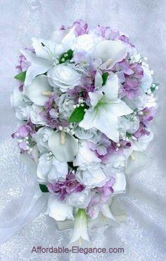 wisteria wedding | Lavender Lilac Wisteria Iris Calla Lilies Bridal Bouquet Silk Wedding ...