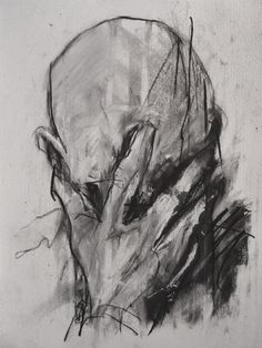 Guy Denning - on the edge of reason (my interpretation not his title) Bristol based artist. Life Drawing, Figure Drawing, Satan Drawing, Drawing Tips, Art Sketches, Art Drawings, Hands On Face, Charcoal Art, Black Art
