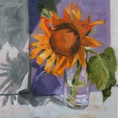 """Daily Paintworks - """"Sunflower"""" - Original Fine Art for Sale - © Aniko Makay"""