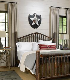 The Hickory Bed Is By Beaver Creek Furniture; The Lowes Bought The Wall Art  And